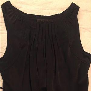 BCBG Maxazria Black Silk Blouse